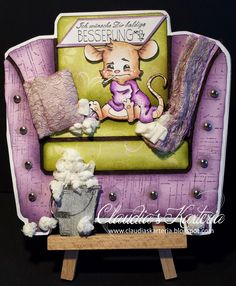 Claudia's Karteria Claudia S, Get Well, I Card, Blog, Teddy Bear, Templates, Toys, Animals, Boxes