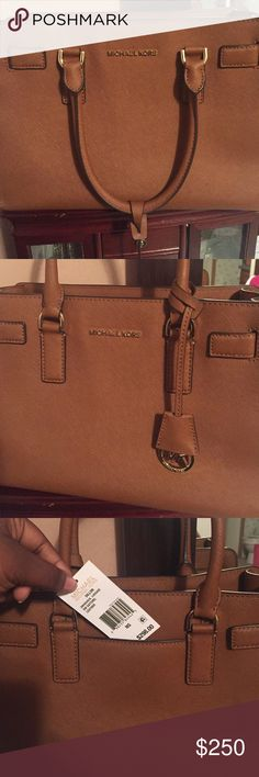 "Michael Kors ""Dillon"" Leather satchel This brown MK bag has barley been used! I still have the dust bag if interested! Michael Kors Bags Satchels"
