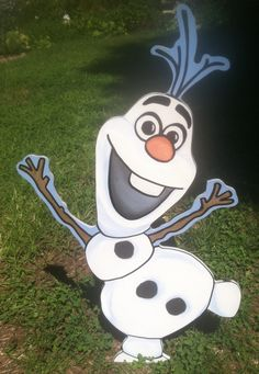 I have been getting asked to do an Olaf the snowman from Frozen and I did... He Looks great and stands 41 inches tall.. I can make to any size... so