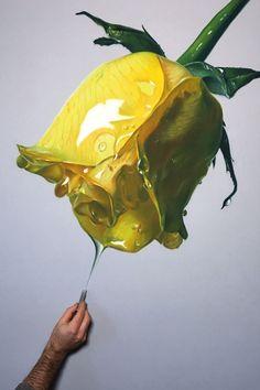 Artist Brian Owens creates large-scale oil pastel drawings of flowers. #drawing #pastelart
