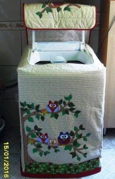 Dress Sewing Tutorials, Sewing Hacks, Sewing Crafts, Sewing Patterns, Washing Machine Cover, Appliance Covers, Small Sewing Projects, Diy Home Crafts, Crochet Gifts