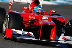 Fernando Alonso is driving the awesome Ferrari F2012