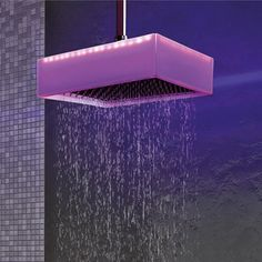 Colore Chromotherapy Shower by Ponsi. I know I have posted shower heads before. But I don't believe it was a Chromotherapy one. How lovely. Douche Design, Funky Home Decor, Shower Systems, Shower Heads, My Dream Home, Interior Architecture, Interior Design, Beautiful Homes, Beautiful Gorgeous