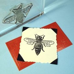 Bee Clear Polymer Rubber Stamp by BlueDiamondStamps on Etsy, $8.00