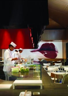 """Katsuya Hollywood Restaurant by Philippe Starck. Yes, it's trendy. It's also divine. This isn't a case of """"emperor's new clothes."""" Having been raised around authentic Japanese cuisine, and having a worldly palate, I knew I'd struck gold here."""