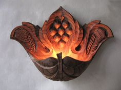 wall sconce wood carving