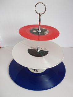 Vinyl Record Cup Cake Stand - Folksy