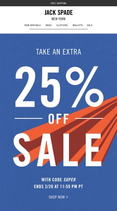 Jack Spade - A Super-Charged Sale