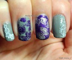 """Butterfly skittlette"" Handy 54 & BM225 #NOTD #Nails #NailArt #Nail #Art #Stamping #NailStamping #Polish #Butterflies #Mundo de #Unas"