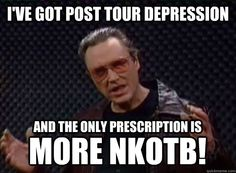 I've got Post Tour Depression and the only prescription is MORE NKOTB!
