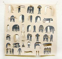 gouache with cut outs by Alison Worman.