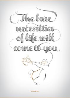 Disney typography...I love the Jungle Book!!