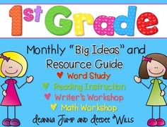 First Grade Curriculum Map - FREE! Curriculum Maps are a great way to organize your instructional thinking for the year. This freebie included a year long plan for your word study (phonics and phonemic awareness), readers workshop, writers workshop, and math workshop.