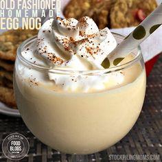 Old Fashioned Homemade Egg Nog Recipe @FoodBlogs.com