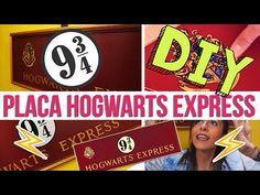 DIY » PLACA HOGWARTS EXPRESS 9 3/4 //  HARRY POTTER