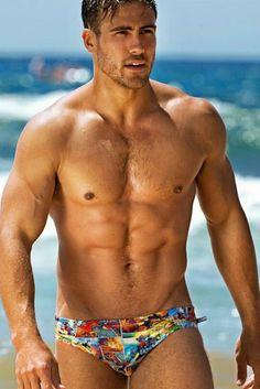 Photo collage swim briefs #beachwear #beach #mensswimwear
