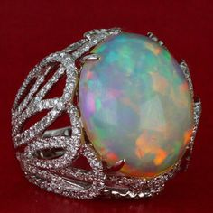 At Yael Designs we are passionate about creating bold jewelry for bold women. #WhiteOpal #YaelDesigns