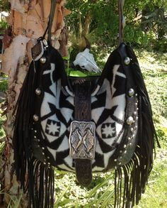 SouthWestern  Black Lambskin Leather Black and by DoubleJOriginals, $365.00