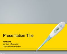 Digital Thermometer PowerPoint Template #PowerPoint #background