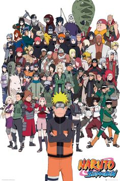 #Naruto Shippuden Group Maxi Poster #Naruto maxi poster. Printed on 150gsm paper using high resolution artwork measuring 61x91.5cm. (Barcode EAN=5028486357406)