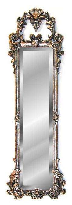 """38"""" French Ornate Strip Wall Mirror Antique Reproduction Choice of Finish 
