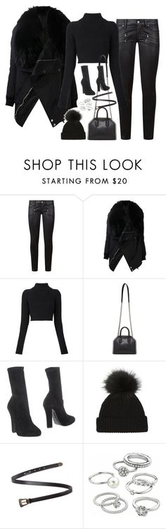"""Sem título #4965"" by fashionnfacts ❤ liked on Polyvore featuring Paige Denim, DRKSHDW, Balmain, STELLA McCARTNEY, Emporio Armani, Yves Saint Laurent and Candie's"