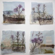 Wren Square Drawing and stitch are closely related in my work .Both are about the making of marks I use materials collected a. Textile Fiber Art, Textile Artists, Square Drawing, Cas Holmes, Tea Bag Art, Poster Print, Fabric Postcards, Creative Textiles, Quilt Modernen