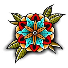 69252665-old-school-tattoo-kunst-blumen-f-r-design-und-dekoration-old-school-tattoo-blume-vektor-illustration.jpg (450×450)