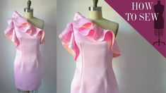 How To Sew A One Shoulder Satin Ruffle Dress