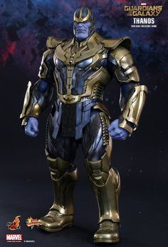 Thanos action figure from hot toys