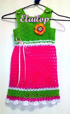 Encargo terminado vestido para niña de tres años