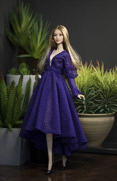 Dress for fashion royalty Poppy Parker Silkstone Barbie by Rimdoll - Fashion Dolls: Clothes - Barbie Gowns, Doll Clothes Barbie, Barbie Dress, Barbie Style, Fashion Royalty Dolls, Fashion Dolls, Dress Fashion, Moda Barbie, Barbie Fashionista Dolls