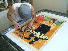 At POSTERFIX, Chris Cloutier and his staff offer Poster Restoration, Archival Linen Backing and Conservation of Vintage Posters. Your vintage posters are important treasures. They represent history. For whatever reasons you prize your posters, they deserve to have conservation treatments to help them last longer and be presentable. Neutralizing the paper acids is one of the benefits of our Linen backing process.
