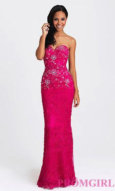 Embroidered Strapless Madison James Dress at PromGirl.com