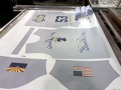 Sublimation print for cut and sew jerseys. This is how they start out.