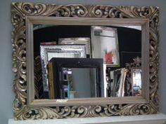 4Ft X 3Ft 122cm X 91cm Large Silver Carved Antique Design Ornate Big Wall Mirror | eBay