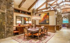 Dream House: Vail Stone & Wood Mansion (23 Photos)  - Enjoy endless sunshine and magnificent panoramic views of Vail Mountain from every room in this breathtaking home located in Vail's most exclusive, ga...
