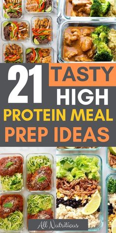 These meal prep healthy recipes are delicious and nutritious. Lose weight while … These meal prep healthy recipes are delicious and nutritious. Lose weight while eating your favorite dishes that happen to be healthy and great for weight loss. High Protein Snacks, Easy High Protein Meals, Protein Lunch, Protein Muffins, High Protein Low Carb, Protein Cookies, High Protein Recipes, Protein Foods, Healthy Recipes