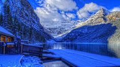 Parque Banff Invierno Casa - Fondos de pantalla HD. Fondos de escritorio. Protectores de pantalla. Wallpapers HD. Fondos de pantalla.