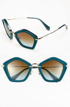 Miu Miu Geometric Sunglasses | http://www.oliviapalermo.com/taking-shape/ #miumiuglasses #miumiusunglasses