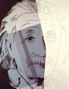 Albert Einstein, 1980-Andy Warhol - by style - Pop Art