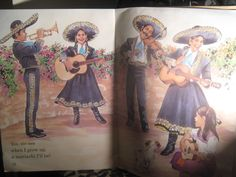 MARIACHI THEMED ARTWORK  over-size pages from childrens book