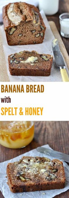 Banana bread with spelt & honey | Plus Ate Six