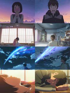 Just read the manga. My God. Kimi No Na Wa, Makoto Shinkai Movies, Mitsuha And Taki, Manga Anime, Anime Art, Your Name Anime, Japon Illustration, Ghibli Movies, Anime Films
