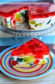 Kuchnia szeroko otwarta: Sernik na zimno z galaretkami Extreme Food, Sweets Cake, Polish Recipes, Coffee Break, Cheesecakes, Sweet Recipes, Watermelon, Sandwiches, Food And Drink