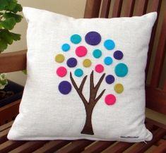 Sewing Pillows, Diy Pillows, Handmade Pillows, Decorative Pillows, Throw Pillows, Felt Crafts, Fabric Crafts, Sewing Crafts, Sewing Projects