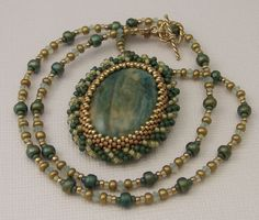 Cabochoned peyote pendant