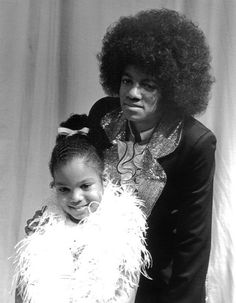 Michael and Janet (1974) - Cuteness in black and white ღ by ⊰@carlamartinsmj⊱