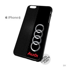 Audi logo on a field of Black Phone Case For Apple, iphone 4, 4S, 5, 5S, 5C, 6, 6 +, iPod, 4 / 5, iPad 3 / 4 / 5, Samsung, Galaxy, S3, S4, S5, S6, Note, HTC, HTC One, HTC One X, BlackBerry, Z10