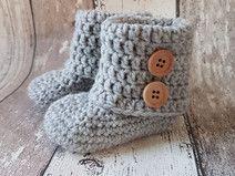Crocheté chaussures de bébé